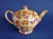 Large Royal Winton 'Evesham' Chintz Alban Shape Teapot c1951 (Sold)